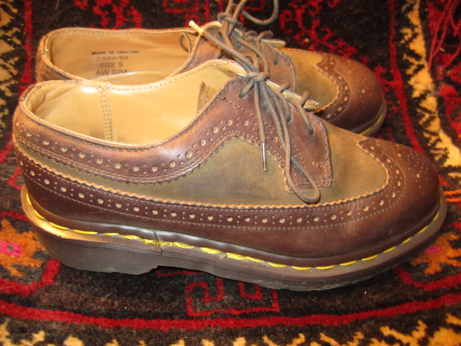 Doc Made Marten marron Taille ailerons 5 Made Doc in England 5f89c6