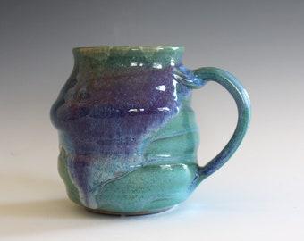 Stoneware Mug, 13 oz, pottery mug, unique coffee mug, handmade ceramic cup, tea cup, coffee cup, handthrown mug, Pottery Mug,