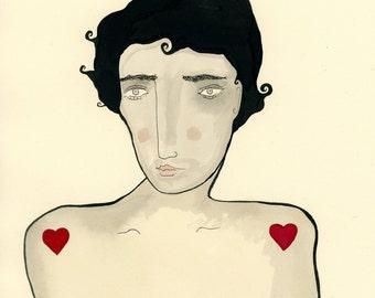 Hearthrob-Valentine's Day, Valentine gift, Valentine print, Lover, Love, Heart, Sexy Man, Hearts,