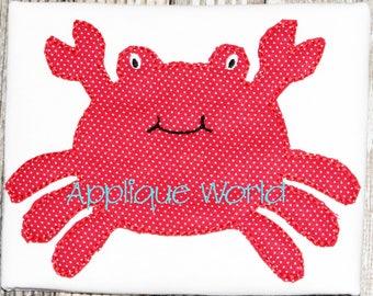 Raggy Vintage Baby Crab Applique Embroidery-Instant Digital Download Design-Machine Applique Embroidery Design-Kids Applique Pattern.Crab.