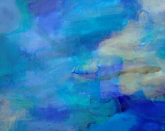 Original Encaustic Painting - Abstract Landscape