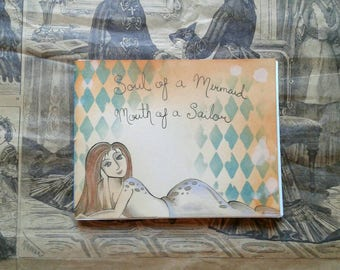 Selkie Mini Hand Bound Journal, Notebook, Handbook, Handmade