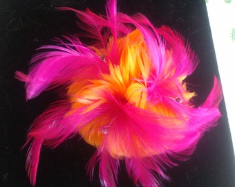 Feather Hair Piece or Brooch right out of the Roaring 20's