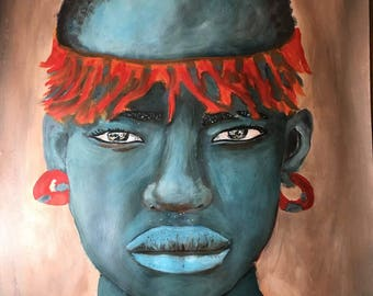 African Warrior Signed 11x14 Print