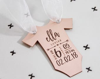 Baby's First Christmas ornament, Baby Ornament, Baby Statistics,  New baby gift, Baby Keepsake gift, gift for new mom, handmade gift