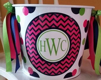 Custom Personalized Bucket - 5 Quart / Gift Basket / Easter Bucket / Beverage Pail