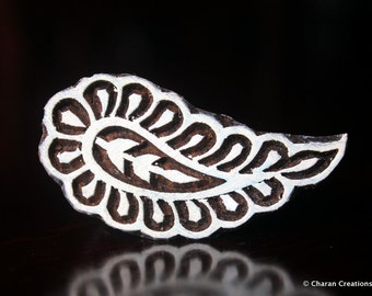 Indian Wood Textile Stamp, wood block stamp, tjaps, pottery stamp, carved wood stamps - Paisley
