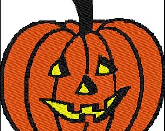 Halloween Jackolantern Pumpkin Embroidery Pattern Design