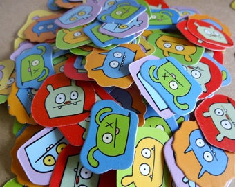 150 monsters confetti cardboard pads stick - kids activities - collages