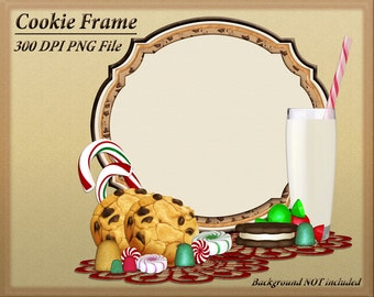 Christmas Cookie Clipart, Holiday Clipart, Christmas Clipart Frames