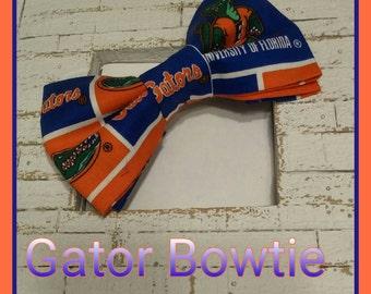 Gator University Bowtie/ Florida University Bowtie/ Mens Bowtie/ College Bowtie/ Gator Hair bow