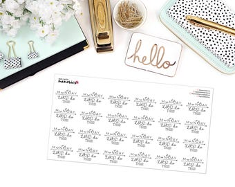 MONDAYS: Let's Do This. Paper Planner Stickers
