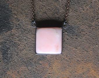 Peruvian Pink Opal Copper Necklace