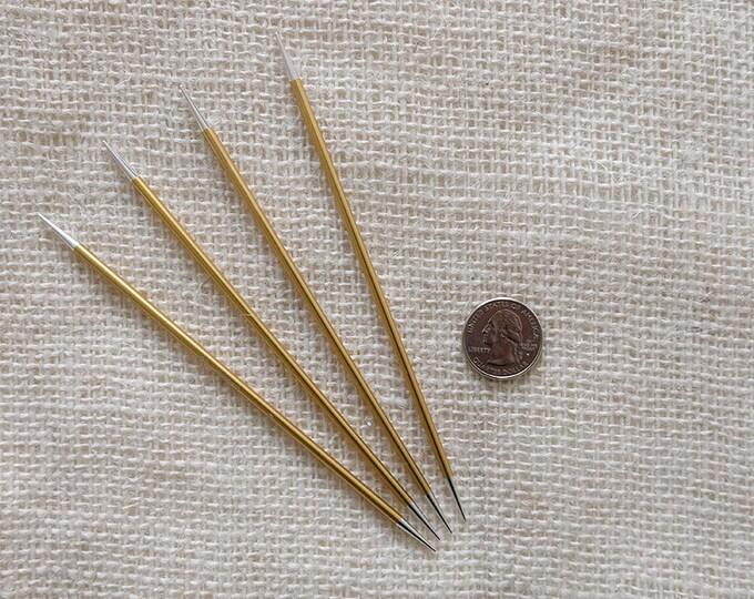 "Signature Needles Size 3 - Stiletto Tip -  needle is 6"" long - set of 4"