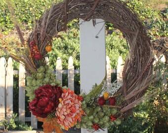 Fall winter hop wreath