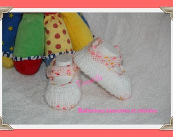 Pair of ballerina pink and white Heather