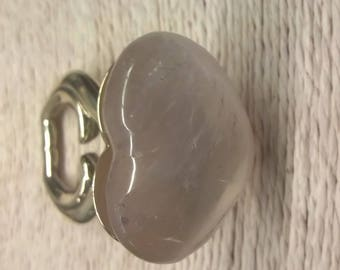 Ring with quartz heart