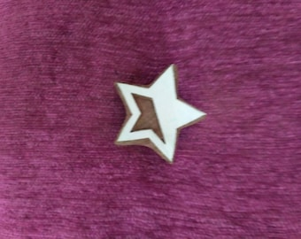 wooden block printing stamp, pottery stamp, textile stamps, soap stamp, tjaps - Star