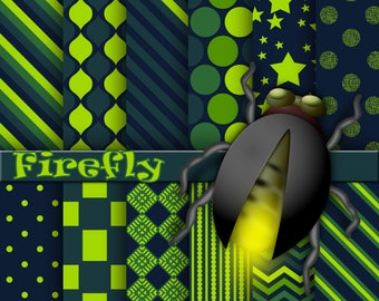Firefly digital paper, background, scrapbook