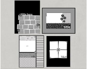 Mcturtle'icious - 8.5x11 Digital Scrapbooking Templates