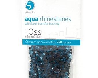 Silhouette Aqua Rhinestones