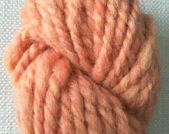 Chunky alpaca yarn - pumpkinesque orange handspun