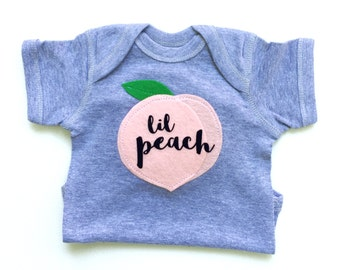 Baby Clothes, Lil Peach Baby Gift, Baby Clothes, Georgia Peach, Baby Girl Clothes, Fruit Bodysuit, The Wishing Elephant, Funny Baby Gift,