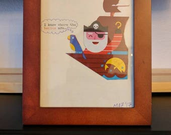 Typewriter art: The parrot knows!