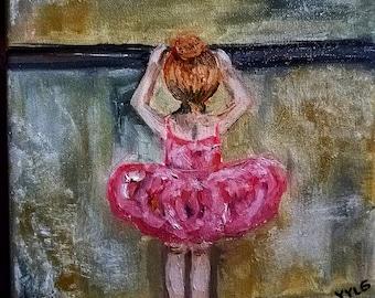 Little ballerina pink (Oil in canvas)