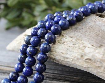 Lapis Lazuli Beads, 1 Strand 6 mm Lapis Gemstone Beads, Blue Beads, Round Beads, Lapis Beads, Natural Lapis Beads