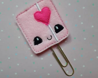 Pink Planner Feltie Clip.  Paperclip.  Felt Clip. Planner Gifts.  Stationery.