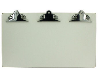 White Clipboard Triple Clip 13 x 7.5 in