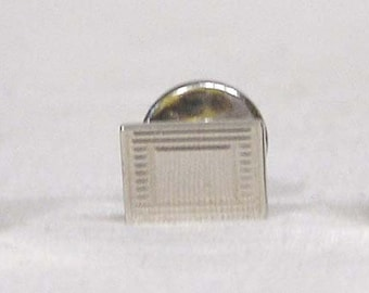 Vintage Sterling Silver Cufflinks and Tie Tack Set Rectangles