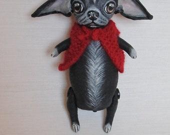 Art doll dog chihuahua Bobby