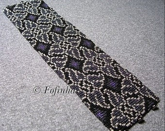 2 Patterns for 1 Price - Loom or 8 Drop Even Peyote Bead Patterns - Whirlygigs Cuff Bracelets