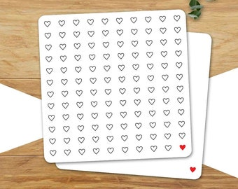 Card for lovers, hearts want you here!