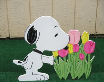 Peanuts Snoopy Spring Sign