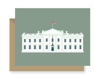 The White House Government Building, United States Government Political Building Architecture, Washington D.C. Greeting Card