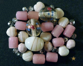 Indian of various shapes and Italian glass beads