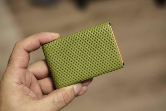 04 Design Leather Wallet, Groomsman Gift, Mens Wallet, Minimalist Wallet, Leather Wallet, RFID Wallet