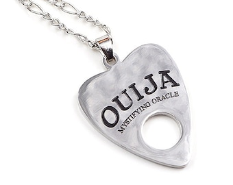 OUIJA PLANCHETTE NECKLACE | occult | witchcraft | mystifying oracle | spiritual | jewelry | pendant | ouija board planchette necklace