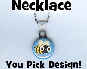 Button Necklace - any design you want