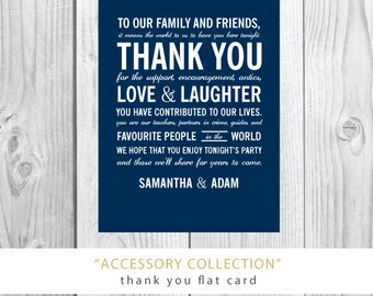 Accessory Collection | Thank You or Wedding Welcome Card | Printed or Printable by Darby Cards