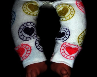 Leg warmer, Infant, Newborn- Valentine Hearts in Colors - infant leg warmer, newborn leg warmer, baby girl leg warmer, baby leg warmer