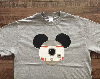 Youth- Star Wars Disney BB-8 Mickey Head Shirt