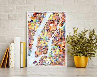Chroma Studies - Colors of New York Map Poster (Offset print)