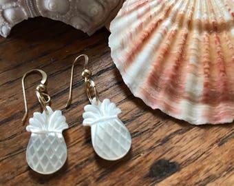Mother of Pearl Dangle Drop Earrings