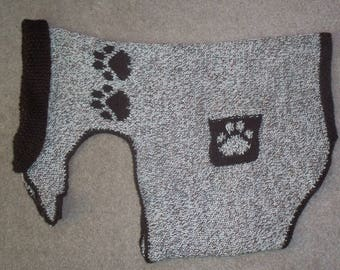 Dog Coat with Matching Ladies Hat and Wrist Warmers