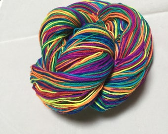 Neon Stripe Self-Striping yarn