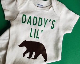Daddy's Little Bear Baby Clothes, Bear Baby Clothes, Bear Hunting, Gender Neutral Baby Clothes, Bear Baby Clothes, Dad To Be, Little Bear
